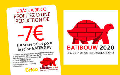Profitez d'une réduction sur votre ticket Batibouw 2020