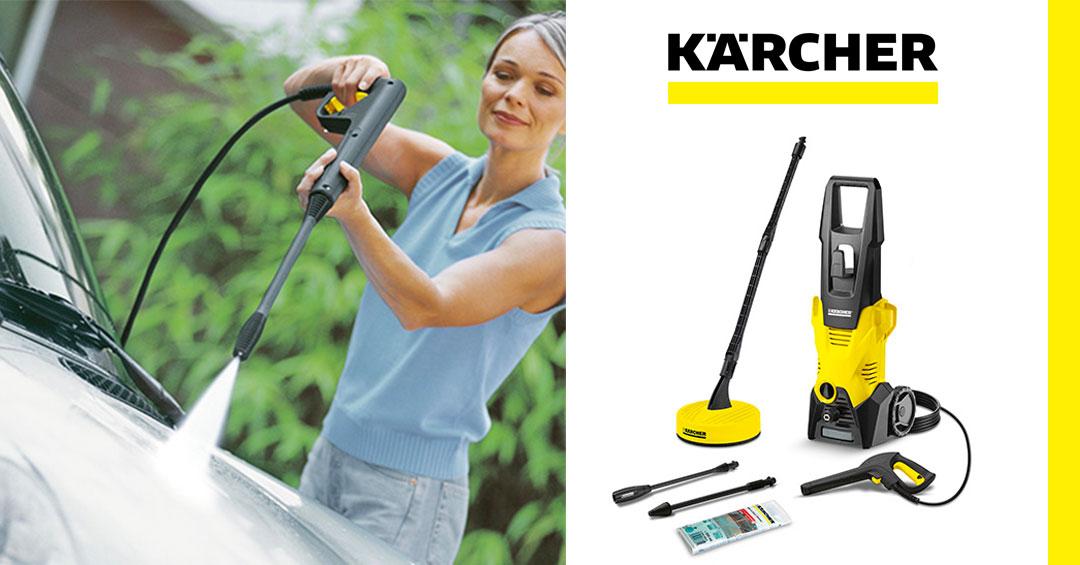 Entretenez, nettoyez, protégez lesmeubles de jardin, lesoutils de jardin, les cadres de fenêtre en plastique et autres surfaces synthétiques avec lesnettoyeurs haute pression.
